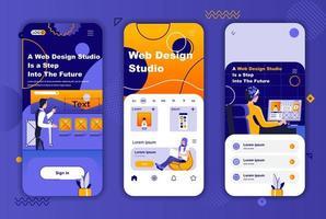 webdesignstudio unieke ontwerpset voor verhalen op sociale netwerken. vector