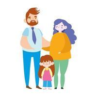 moeder vader en dochter relatie, familiedag