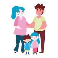 vader moeder dochtertje en zoon karakter, familiedag
