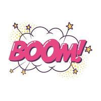 Boom explosie popart element sticker pictogram geïsoleerd ontwerp