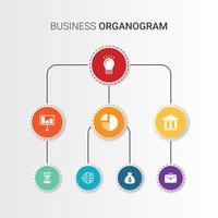 Bedrijfsorganogram vector