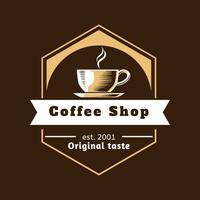koffie winkel logo vector
