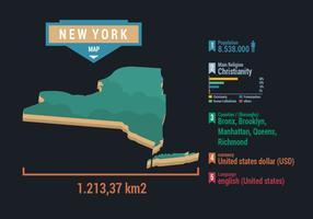 New York City Map Vector met Infographic