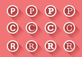 Symbool van auteursrecht vector