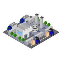 isometrische industrie in vector op witte achtergrond