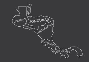 Kaart van Midden-Amerika vector
