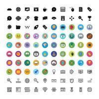 icon set van zoekmachineoptimalisatie voor persoonlijk en commercieel gebruik ...