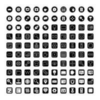 icon set van zoekmachineoptimalisatie vector
