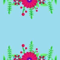 bloemen wenskaart achtergrond