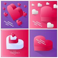 valentijnsdag kaartenset