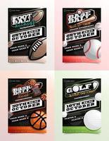 sport flyer advertentieset vector