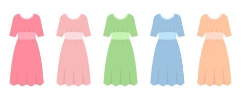 jurk in platte ontwerp vectorillustratie geïsoleerd op een witte achtergrond