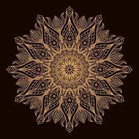 gouden luxe circulaire mandala. decoratief ornament in etnische oosterse stijl. kleurboek pagina.