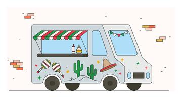 Mexicaanse Foodtruck-vector vector