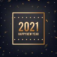 gelukkig nieuwjaar zwarte en gouden achtergrond