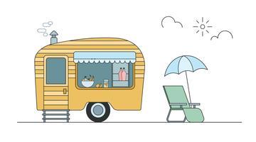 trip trailer vector