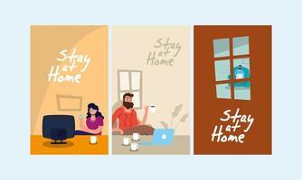 blijf thuis campagne scènes