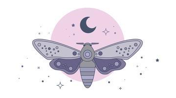 Nachtvlinder Vector