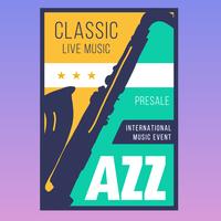 Jazz muziek evenement poster vector