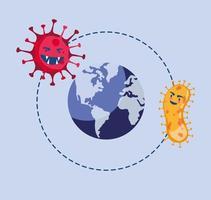 covid19 pandemie deeltjes en de planeet aarde