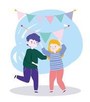 mensen samen om een speciale gebeurtenis te vieren, gelukkige paar dansfeest vieren