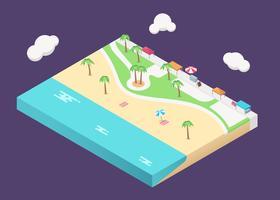 Isometrische Venice Beach in Los Angeles vector