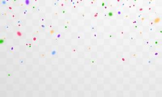 confetti en kleurrijke linten. viering achtergrond sjabloon vector