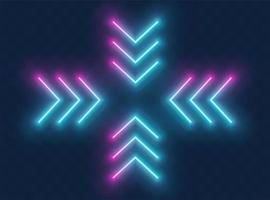 neon pijl teken vector