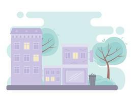 stad stedelijke straat gebouwen commerciële woonstructuur ontwerp