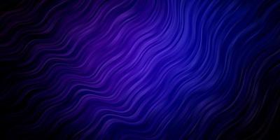 donkerroze, blauwe vector sjabloon met wrange lijnen.