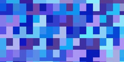 lichtroze, blauwe vectortextuur in rechthoekige stijl.