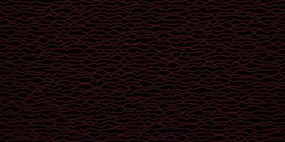 donkerrood vectorpatroon met wrange lijnen.