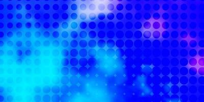 lichtroze, blauwe vectorlay-out met cirkelvormen.