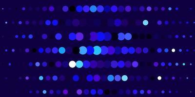 donkerroze, blauwe vectorachtergrond met stippen.