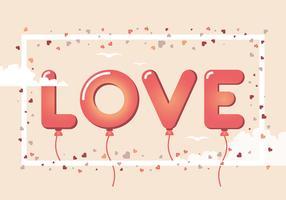 Platte Valentijnsdag Vector-elementen vector