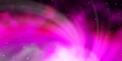 lichtroze vectorpatroon met abstracte sterren. vector