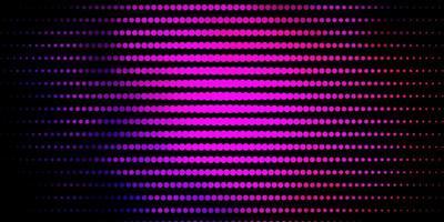 donkerroze, blauwe vectorachtergrond met stippen. vector