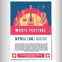 Muziek Poster achtergrond sjabloon