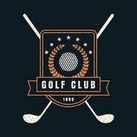 golfclub retro kenteken vector
