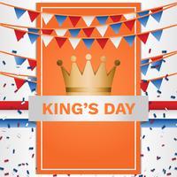 Kings Day Nederland Poster achtergrond sjabloon vector