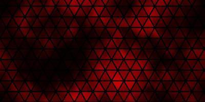 donkerrode vectorlay-out met lijnen, driehoeken.