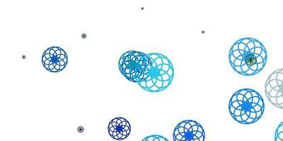 lichtblauwe, groene vectorachtergrond met stippen. vector
