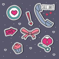 Romantische Stickers Set Vector