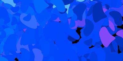 donkerroze, blauw vector sjabloon met abstracte vormen.