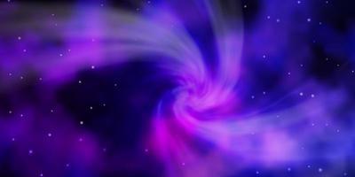 donkerpaars, roze vectorachtergrond met kleurrijke sterren.