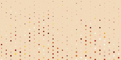 lichtoranje vector achtergrond met bubbels.