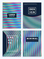 neon poster, retro design, sci-fi patroon set uit de jaren 80 vector