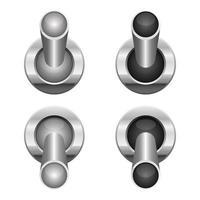aan en uit schakelaar vector ontwerp illustratie geïsoleerd op een witte achtergrond