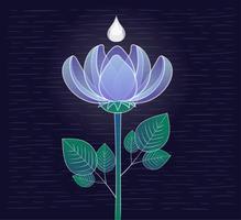 Vector Hand getrokken bloem illustratie