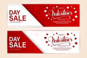 gelukkige Valentijnsdag banners